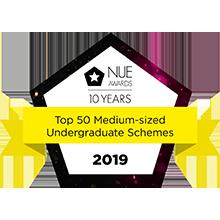 NUE Awards - Top 50 medium-sized undergraduate schemes 2019