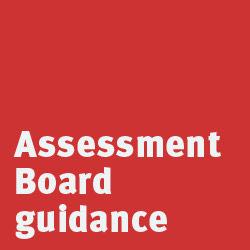 assessment board guidance