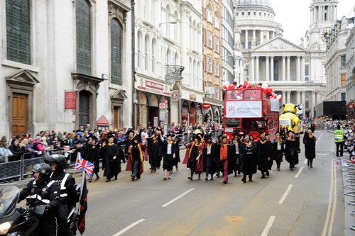 City float from St Pauls