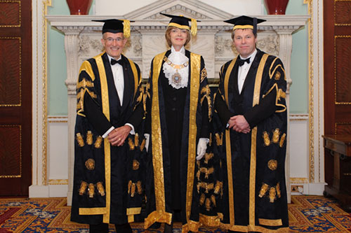 Vice-Chancellor and Chancellor at Chancellor's Dinner 2014