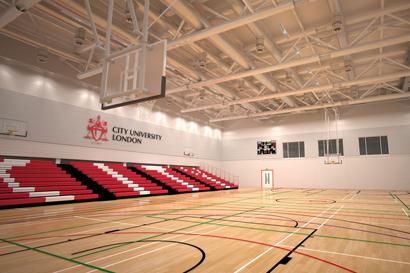 'City University London' CitySport sports hall