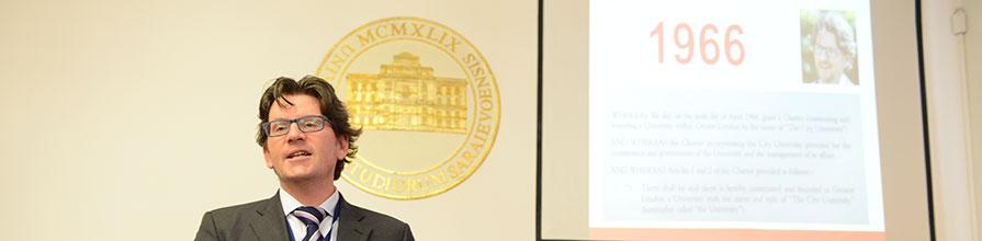 Dr Ivan Sikora speaking to promote the Erasmus Mundus program
