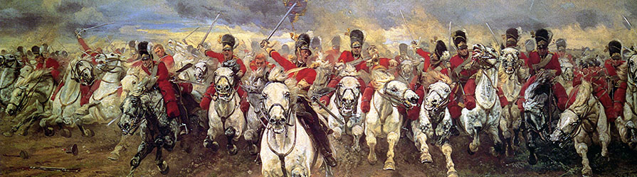 Painting of the Battle of Waterloo