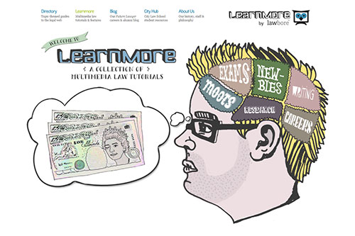 The Learnmore website for multimedia law tutorials