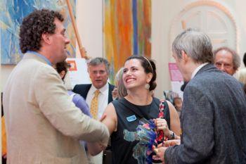 Mara Malagodi at a British Academy soiree exhibition