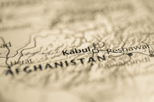 Kabul Afghanistan on an old map