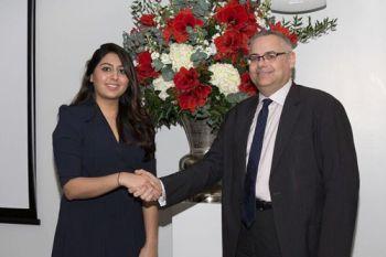 A law school prize winner with Carl Stychin