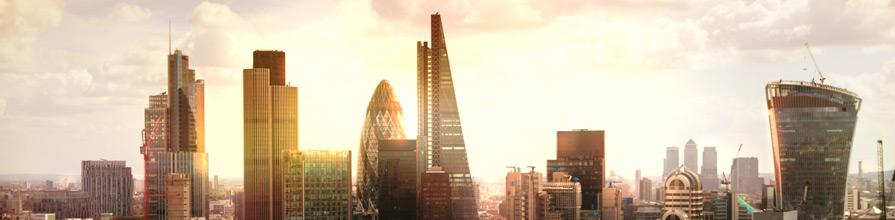 London skyline: business modern district. Cass MBA top Financial Times