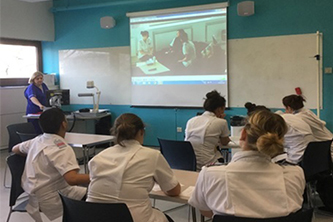 Nurses training in the classroom