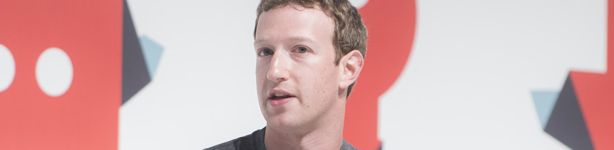 Mark Zuckerberg on stage at MWC 2017. George Brock, Facebook.
