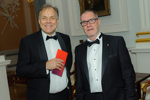 Tim Longden and a guest at the Mansion House for the Rector's Dinner 2017
