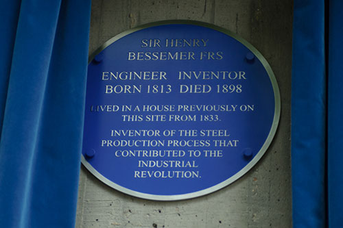 The Henry Bessamer blue plaque