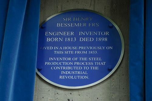 The Henry Bessamer blue plaque