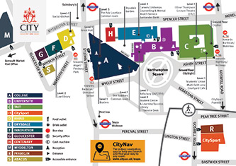 City University Map Campus map City University of London   induced.info City University Map