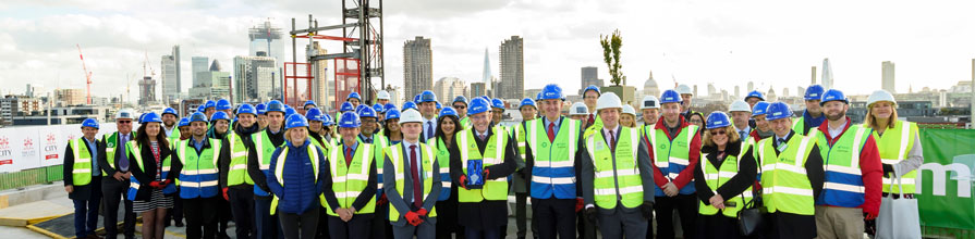 Topping out ceremony Sebastian Street