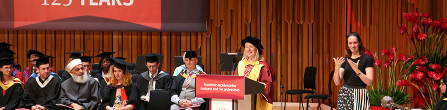 Mrs Helen Gordon, Chief Executive of the Science Council awarded honorary doctorate by City, University of London