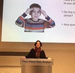 Dr Julia Yates at the NNCG conferance, Oslo.