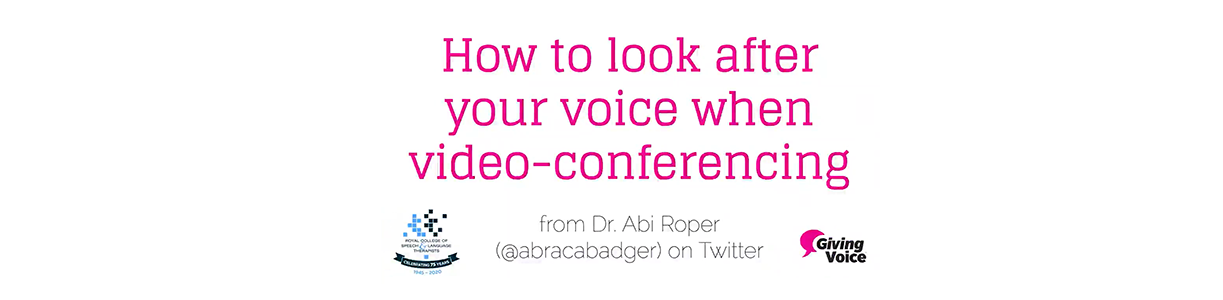 Nine tips for looking after your voice when video conferencing.