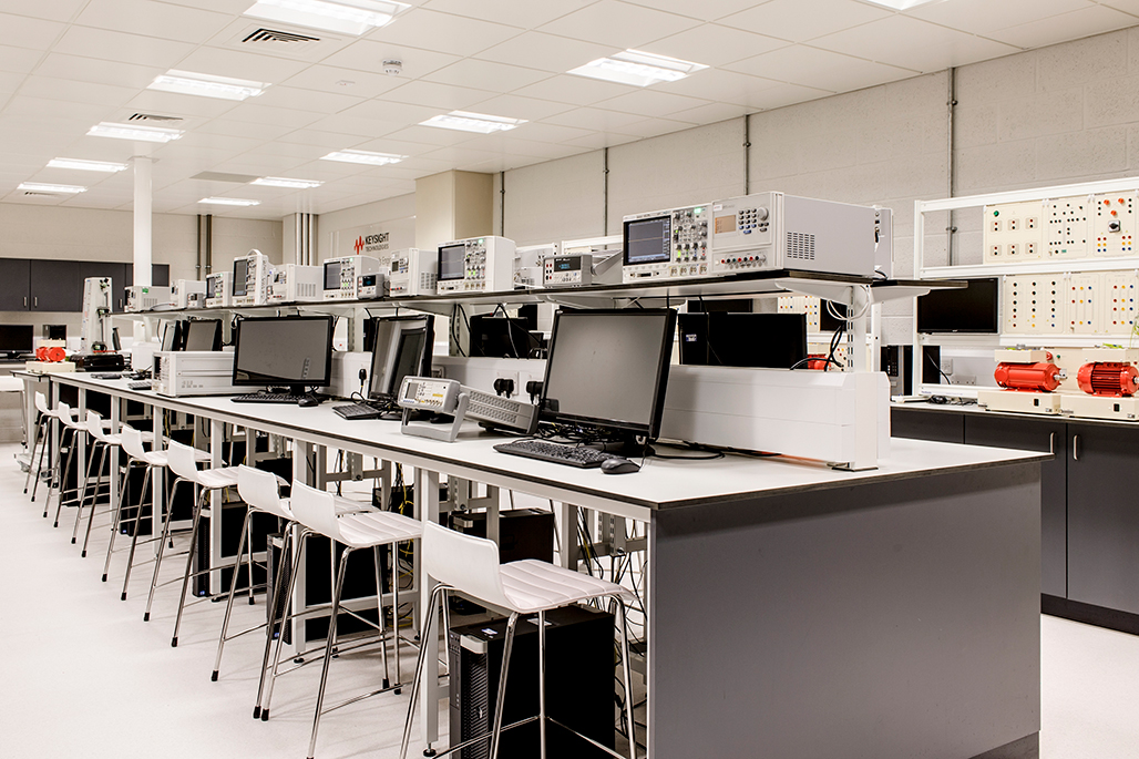 Interior of KeySight laboratory