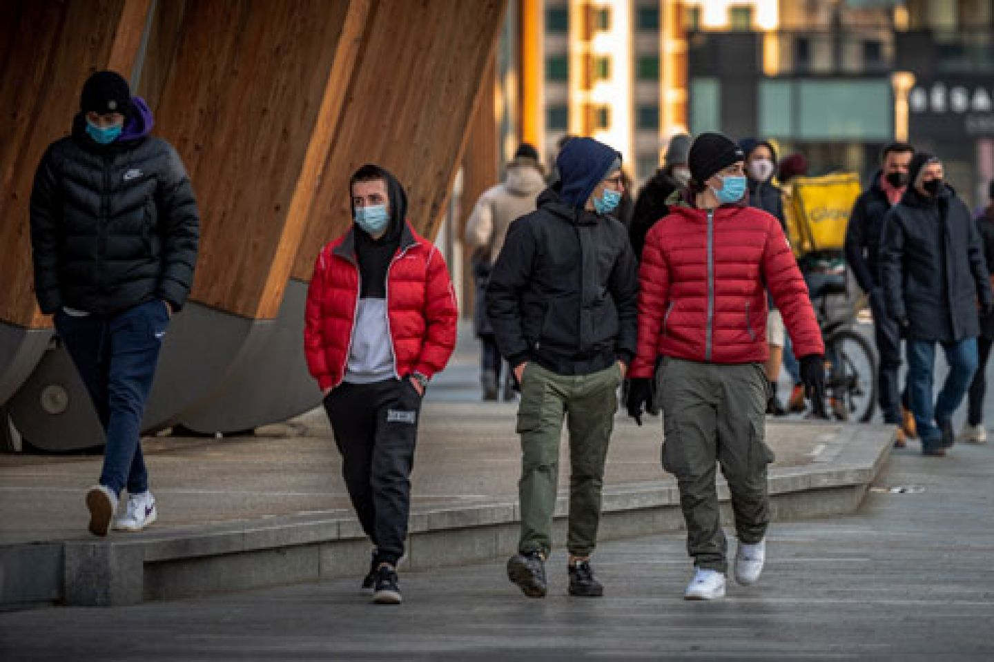People wearing masks during the Covid-19 pandemic
