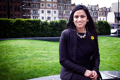 City alumna Jaz Rabadia