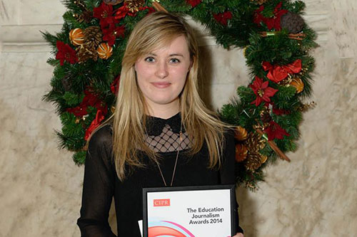 City alumna wins award for work exposing sexual violence