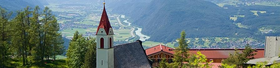 A church in Telfs Moeser, Tyrol, Austria