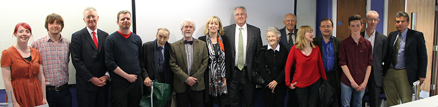 Members of the Benn family during Dr Alun Wyburn-Powell gave a special lecture on the life of William Wedgwood Benn
