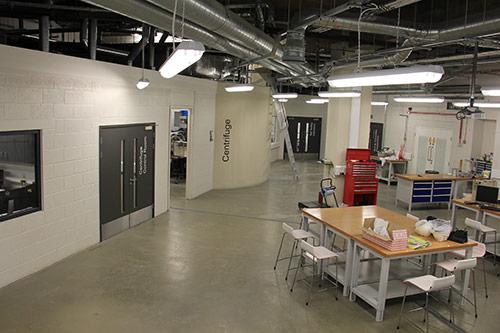 Engineering laboratory with centrifuge