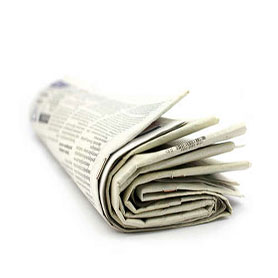 Newspaper bundled