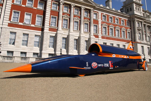 Bloodhound SSC outside Whitehall