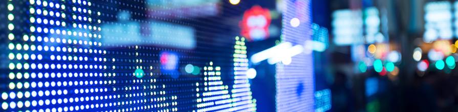 display of stock market data