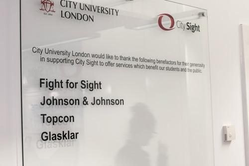 City Sight benefactors: Fight for Sight, Johnson & Johnson, Topcon, Glasklar