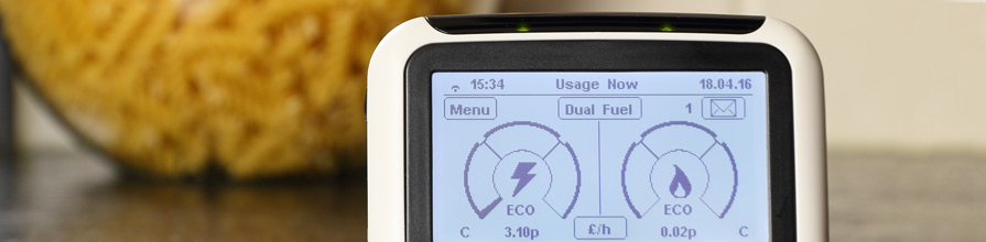 Smart meter showing electricity and gas usage an cost,