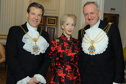 Lady Barbara Judge and guests at the Mansion House for the Rector's Dinner 2017