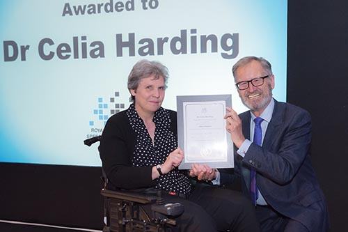 Dr Celia Harding receives RCSLT fellowship award