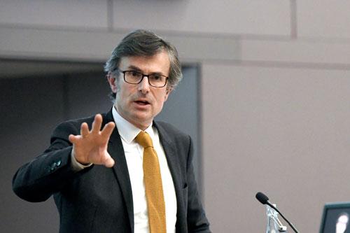 Robert Peston gives 2020 Hugh Cudlipp Lecture at City, University of London