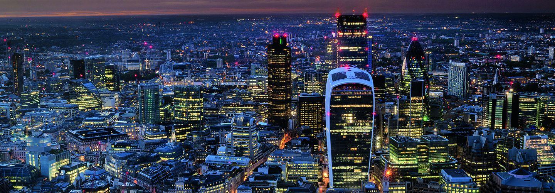 London skyscraper at night
