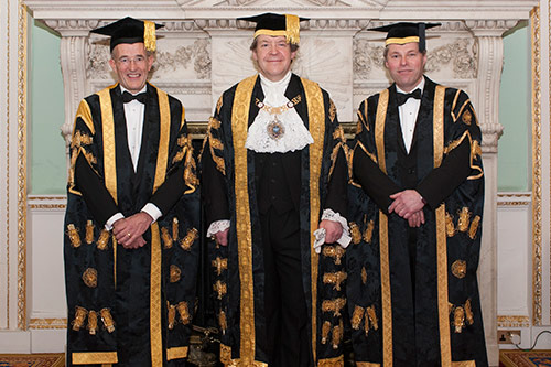 President Sir Paul Curran and guests at the Chancellor's Dinner 2013