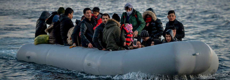 Refugees at sea banner