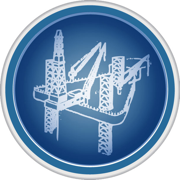 Jack-up oil rig logo