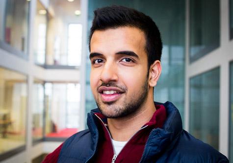 Engineering student Saamer Shafique