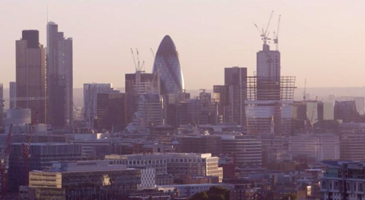 London skyline of Canary Wharf