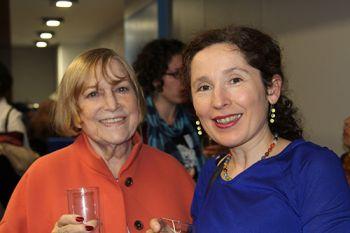 Shirley Conran and Dr Olalla Castro Alvaredo