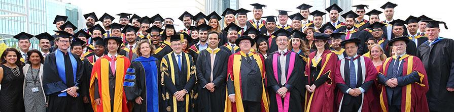 Graduating cohort of the Cass Dubai EMBA 2016