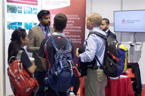 City showcases its research and courses at 2016 Farnborough International Airshow