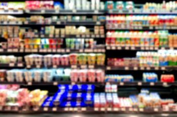 Blurry supermarket