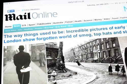 The Daily Mail - mailonline.com web page. City, University of London Daily Mail scholarship