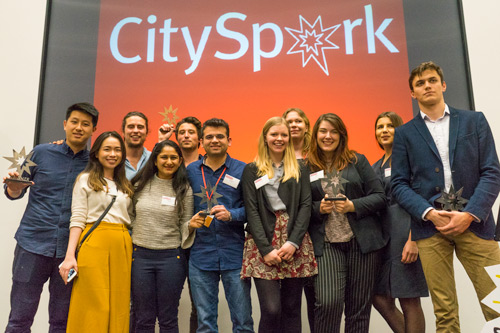Student startups pitch for prizes at the CitySpark live final