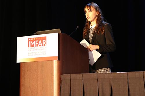 Sara Pisani, Sociology alumni speaking at a conference